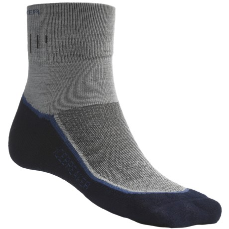 Icebreaker Hike Medium Cushion Mini Socks - Merino Wool, Quarter-Crew (For Men)