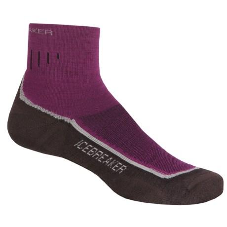 Icebreaker Hike Lite Mini Socks - Merino Wool, Quarter-Crew (For Women)