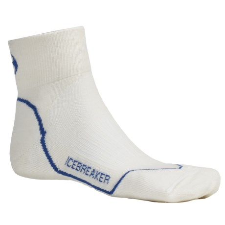 Icebreaker GT Run Lite Mini Socks - Merino Wool, Quarter-Crew, Light Cushion (For Men)