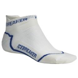 Icebreaker Run Lite Micro Socks - Merino Wool, Below-the-Ankle (For Men)