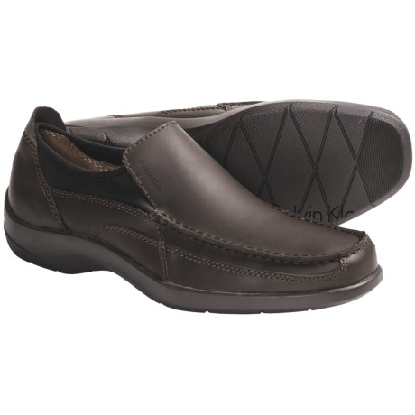 Calvin Klein Israh Shoes - Leather, Slip-Ons (For Men)