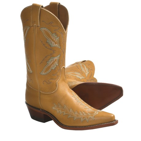 "Justin Boots Deerskin Cowboy Boots - 11"", J3 Narrow Square Toe (For Women)"