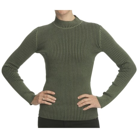 Nomadic Traders Ribbed Mock Neck Sweater (For Women)