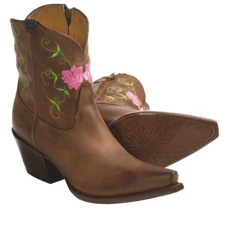 "Tony Lama Vaquero Cowboy Boots - Patina Leather, 7"" (For Women)"