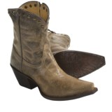 "Tony Lama Vaquero Cowboy Boots - Mardi Gras Leather, Brass Studs, 7"" (For Women)"