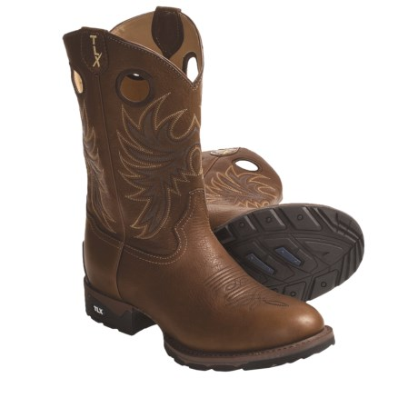 Tony Lama TLX Stockman Deerskin Western Work Boots - Extra-Wide Round Toe (For Men)