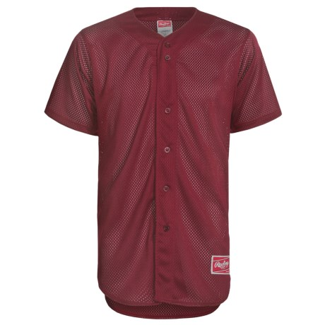 Rawlings Double Play Baseball Jersey - Short Sleeve (For Men)