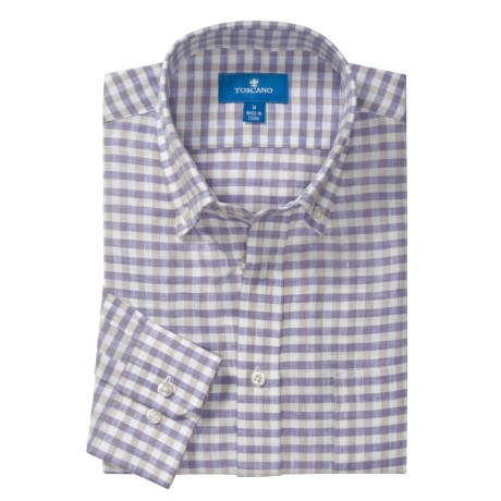 Toscano Linen Shirt - Long Sleeve (For Men)