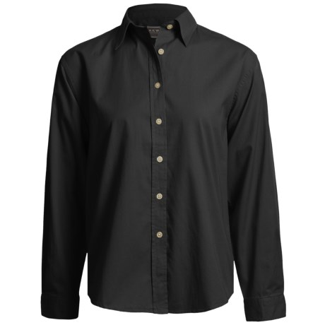 AKWA Brushed Cotton Twill Shirt - Long Sleeve (For Women)