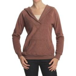 Pulp Heathered Terry Hoodie Sweater - Fleece (For Women)