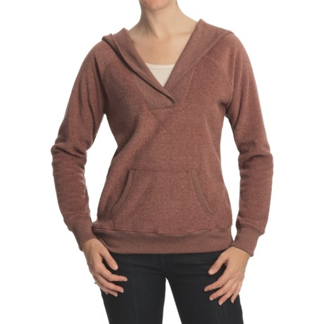 Pulp Heathered Terry Hoodie Sweater - Fleece (For Women)