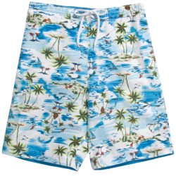 Caribbean Joe Printed Cargo Board Shorts (For Men)