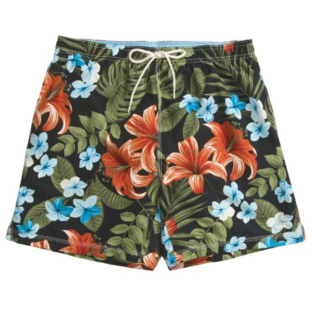 Caribbean Joe Printed Swim Trunks (For Men)