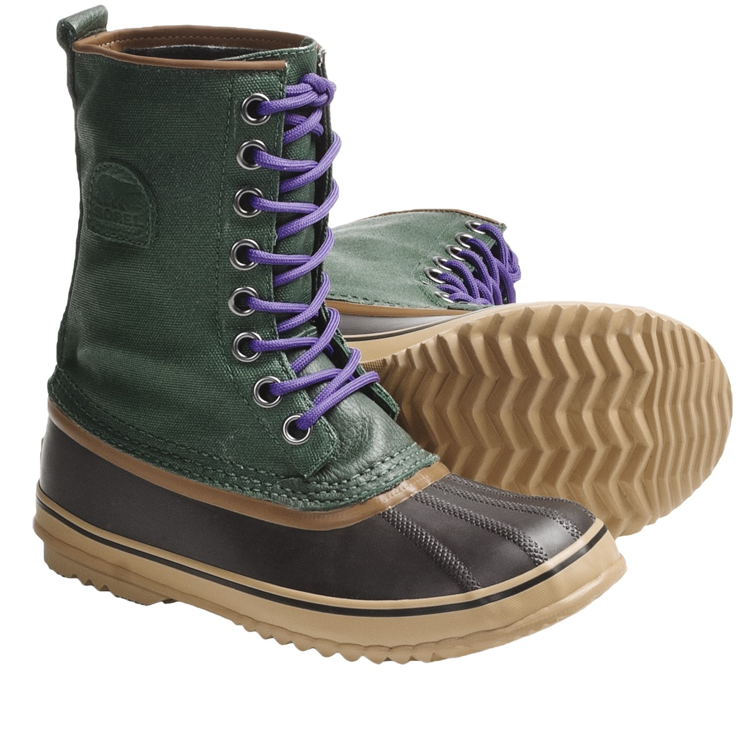 Unique Sorel 1964 Pac 2 Leather And Rubber Boots In Natural  Lyst
