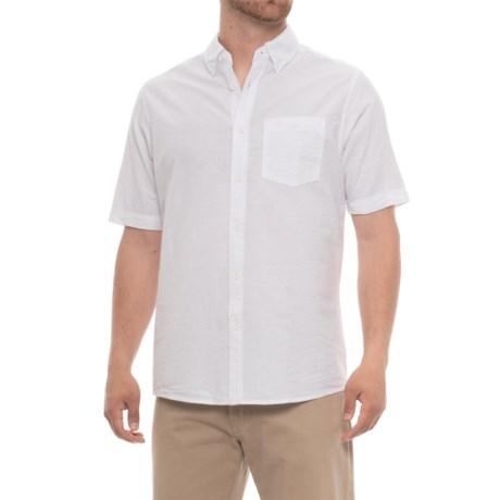 North River Solid Woven Seersucker Shirt - Short Sleeve (For Men)