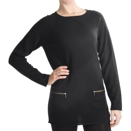 Forte Cashmere Tunic Sweater - 2-Ply, 12-Gauge (For Women)