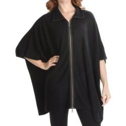 Forte Cashmere Oversizes Zip Turtleneck Sweater - 2-Ply, 10-Gauge (For Women)