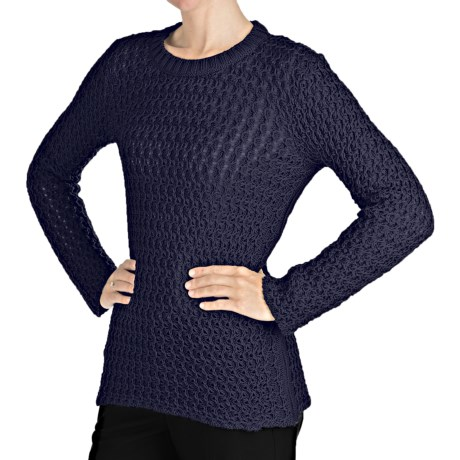 Peregrine by J.G. Glover Wave Stitch Sweater - Peruvian Merino Wool (For Women)