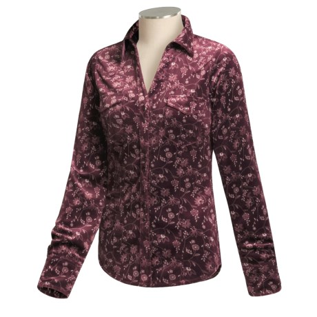 Roper Velour Shirt - Long Sleeve (For Women)
