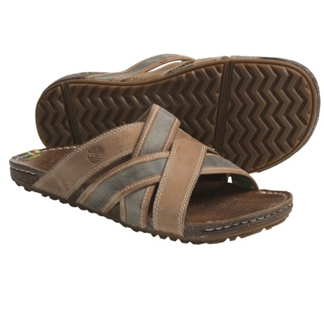 Timberland Earthkeepers Rugged Escape Slide Sandals - Leather, Recycled Materials (For Men)
