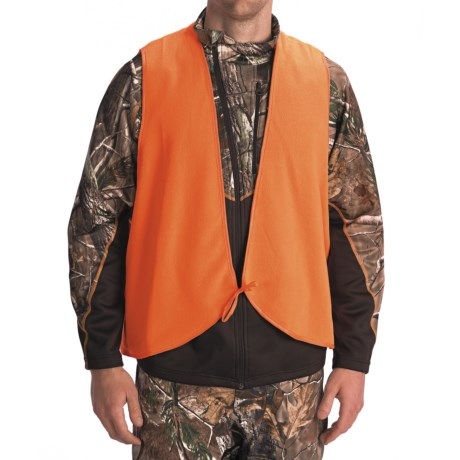 Jacob Ash Fleece Safety Vest - Tie String Closure