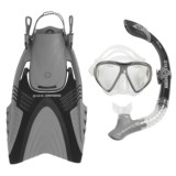 U.S. Divers Adult Snorkeling Set with Travel Bag - 4-Piece