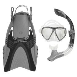U.S. Divers Adult Snorkeling Set with Travel Bag - 4-Piece