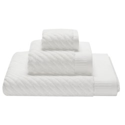 Espalma Spa Sensational Diagonal Stripe Washcloth - Combed Cotton
