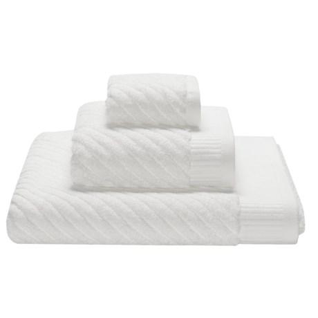 Espalma Spa Sensational Diagonal Stripe Washcloth - Combed Cotton