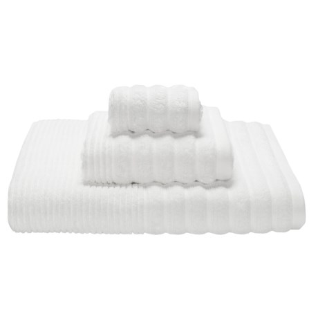 Espalma Boucle Rib Washcloth - Zero-Twist Cotton
