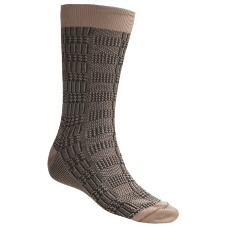 Byford® Glen Plaid Socks - Pima Cotton, Mid-Calf (For Men)