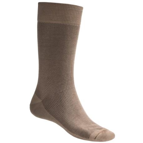 Byford® Mini Check Socks - Pima Cotton, Crew (For Men)