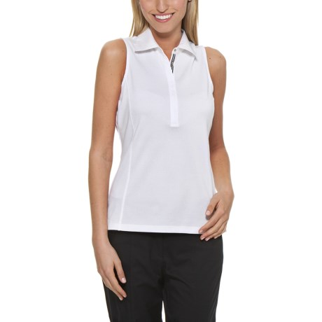 Callaway Pique Polo Shirt - UPF 15+, Sleeveless (For Women)