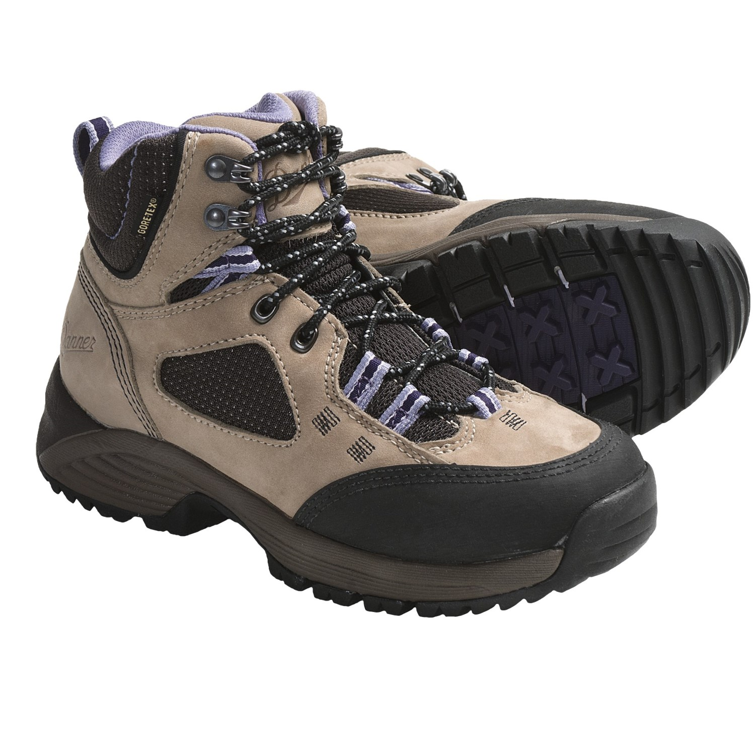 Fantastic Danner 45390 Women GreyBlue Hiking Boots Size 85  EBay