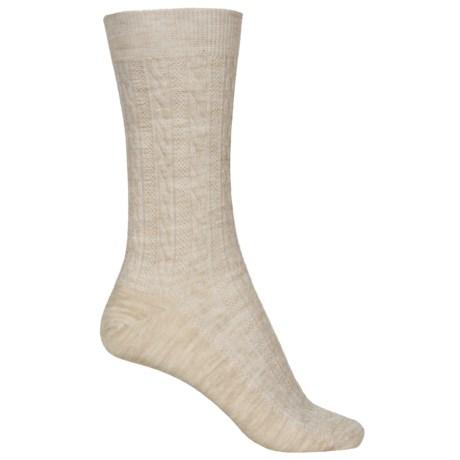 Goodhew San Fran Cable Socks - Merino Wool, Crew (For Women)