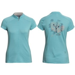 Ibex Indie Mountain Bike Jersey - Merino Wool, Zip Neck, Short Sleeve (For Women)
