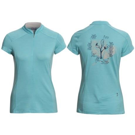 Ibex Indie Mountain Bike Jersey - Merino Wool, Zip Neck, Short Sleeve (For Women)
