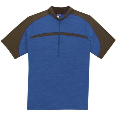 Ibex Giro Mountain Bike Jersey - Merino Wool, Zip Neck, Short Sleeve (For Men)
