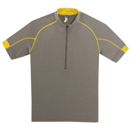 Ibex Indie Cycling Jersey - Merino Wool, Zip Neck, Short Sleeve (For Men)
