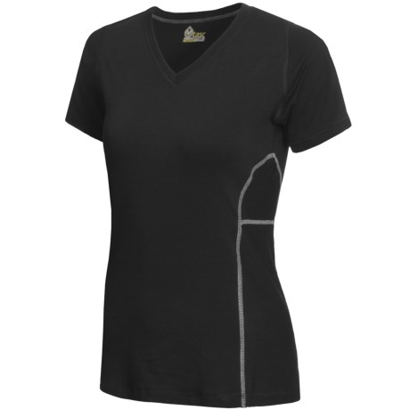 tasc Trainer V.3 T-Shirt - UPF 50+, V-Neck, Short Sleeve (For Women)