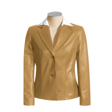 Siena Studio Fitted Leather Blazer (For Women)