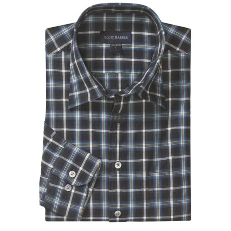 Scott Barber Christopher Fancy Check Sport Shirt - Long Sleeve (For Men)