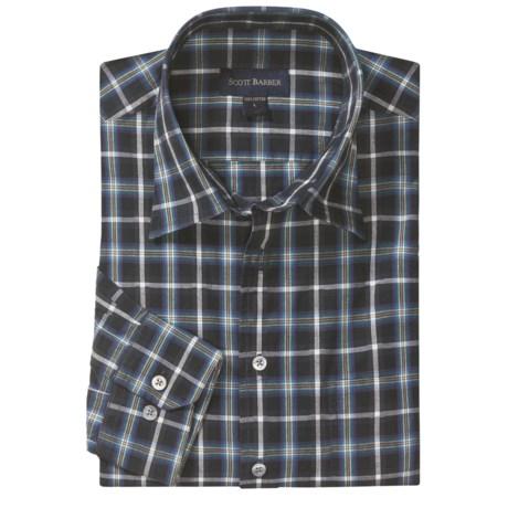 Scott Barber Christopher Fancy Check Sport Shirt - Long Sleeve (For Men)