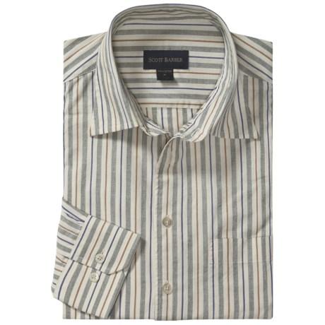 Scott Barber Christopher Fancy Stripe Sport Shirt - Long Sleeve (For Men)