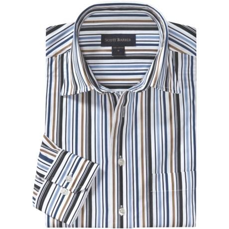 Scott Barber Hadley Fancy Stripe Sport Shirt - Spread Collar, Long Sleeve (For Men)