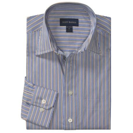 Scott Barber Hadley Stripe Sport Shirt - Cotton, Long Sleeve (For Men)