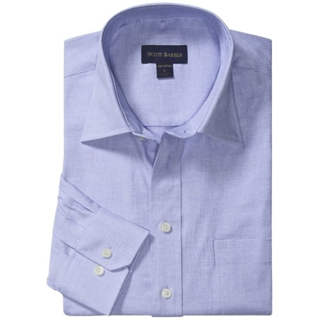 Scott Barber 4x4 Twill Sport Shirt - Hadley Spread Collar, Long Sleeve (For Men)
