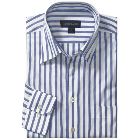 Scott Barber Dermer Sport Shirt - Dobby Stripe, Long Sleeve (For Men)