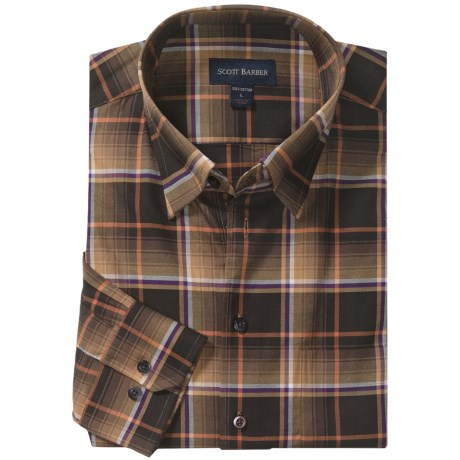 Scott Barber Andrew Plaid Sport Shirt - Long Sleeve (For Men)