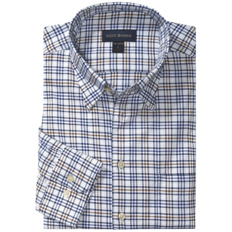 Scott Barber Andrew 4x4 Check Sport Shirt - Twill, Long Sleeve (For Men)